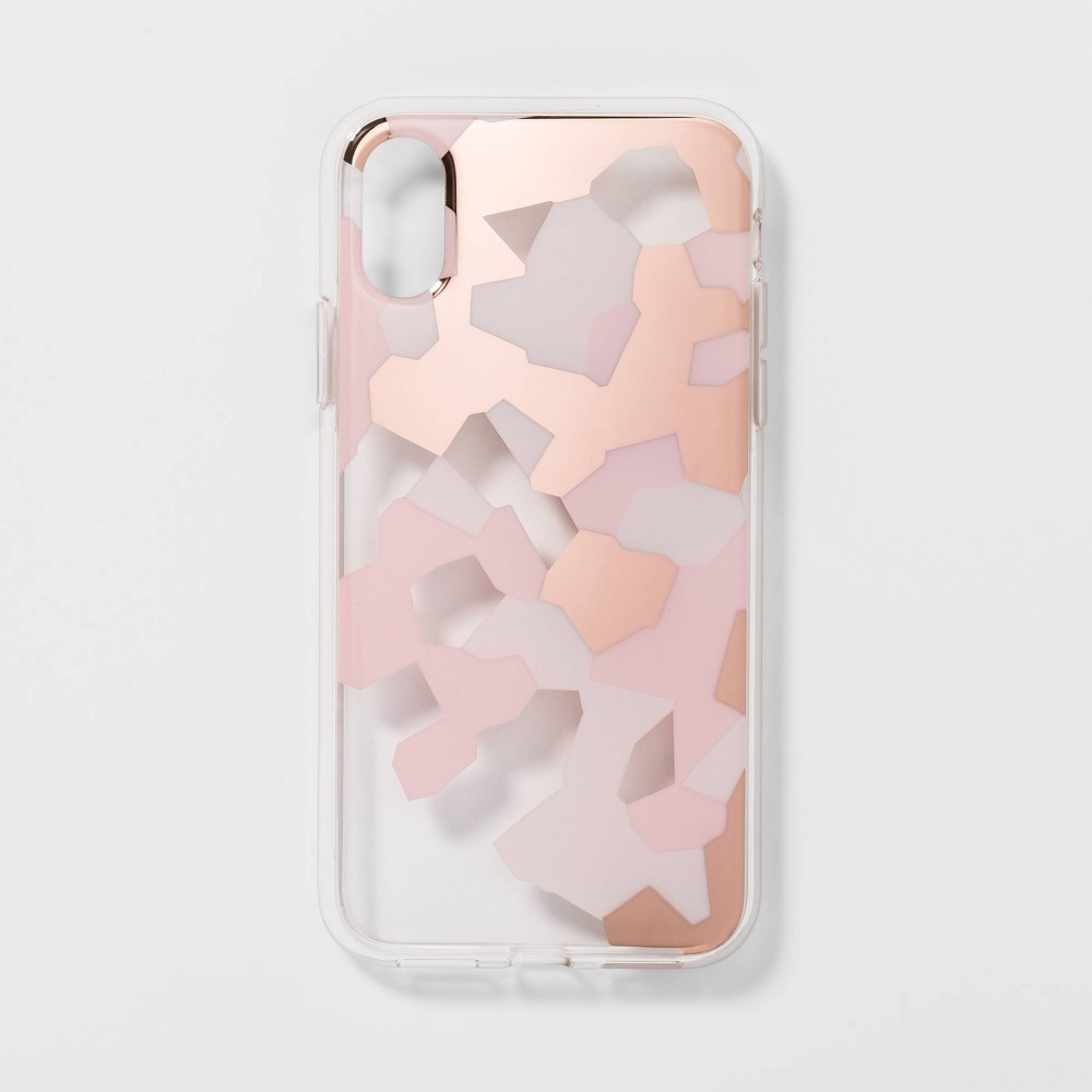 heyday Apple iPhone X/XS Clear Camo Print Case - Pink, Green/Pink