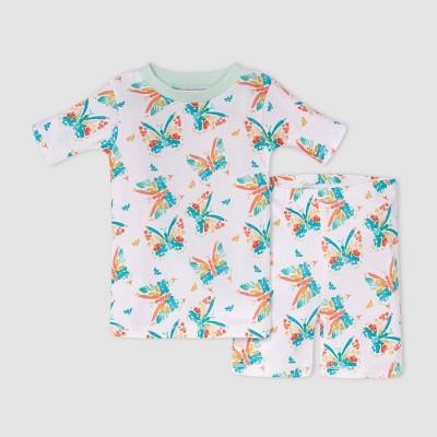 Burt's Bees Baby® Toddler Girls' Butterfly Pajama Set - Blue