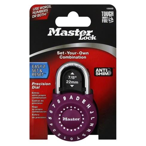 Master Lock Precision Dial Combination Padlock - Purple - image 1 of 1
