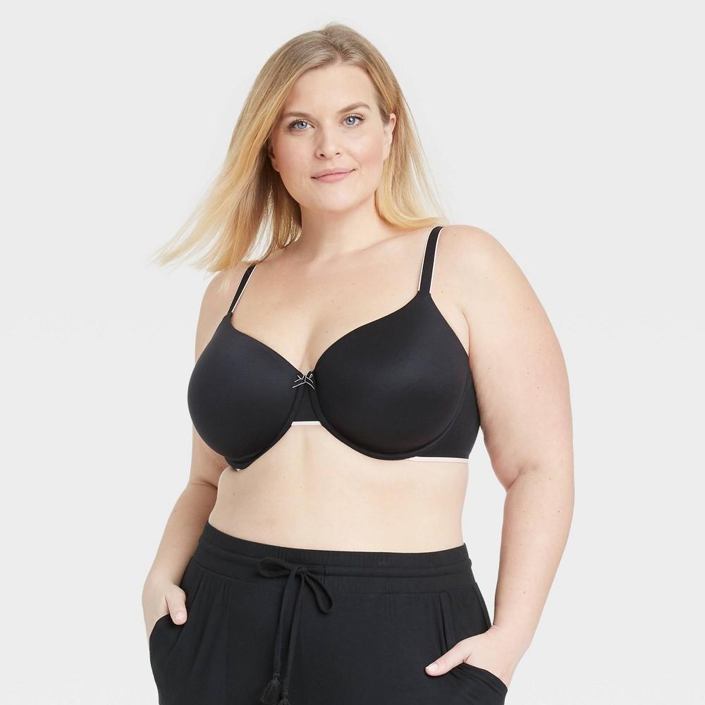 Women 39 S Plus Size Lightly Lined Demi Bra Auden 8482 Black 44ddd