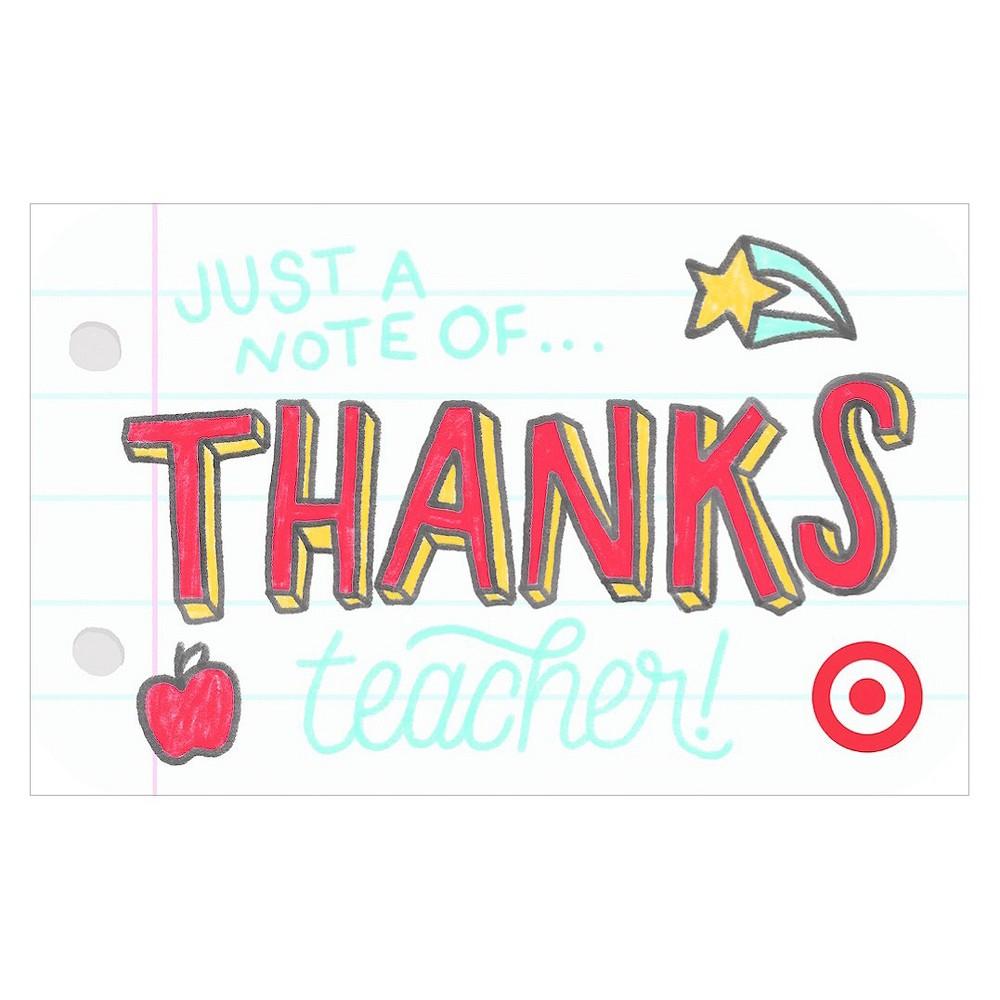 Teacher Notebook GiftCard $30