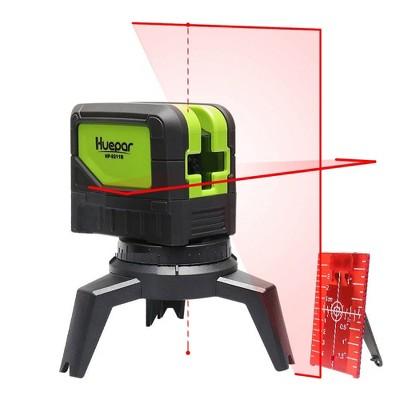 Huepar 9211R DIY Home Improvement Horizontal Vertical Cross Line Red Beam Self Leveling Laser Level with Class 2 Laser