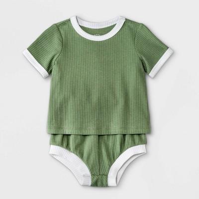 Baby Boys' Rib Top & Bottom Set - Cat & Jack™ Olive