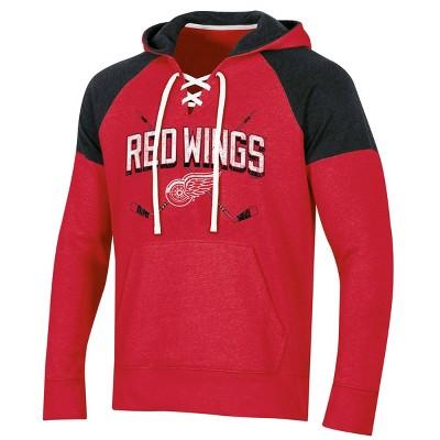 NHL Detroit Red Wings Men's Hat Trick Laced Hoodie - M