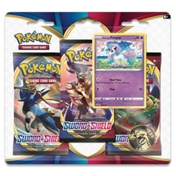 Pokemon Trading Card Game Sword & Shield S1 3 Pack Blister featuring Galarian Ponyta