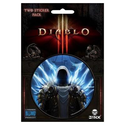 "JINX Inc. Diablo III 3"" Round Sticker 2-Pack: Tyrael"