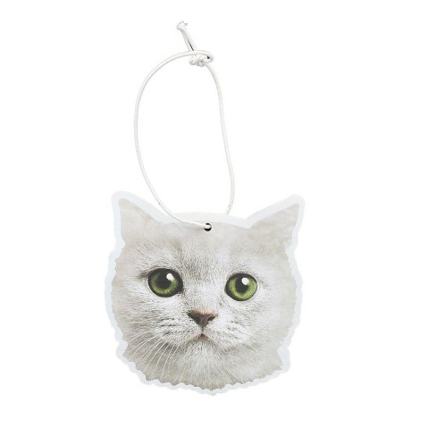 Just Funky White Cat Cupcake Scented Hanging Air Freshener - image 1 of 2