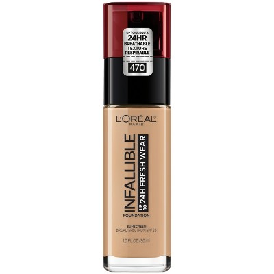 L'Oreal Paris Infallible 24HR Fresh Wear Foundation with SPF 25 - 1 fl oz