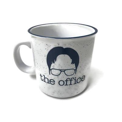 The Office 20oz Ceramic Dwight Camper Mug - Silver Buffalo