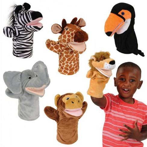 Kaplan Early Learning Safari Animal Puppets - Set of 6 - image 1 of 4