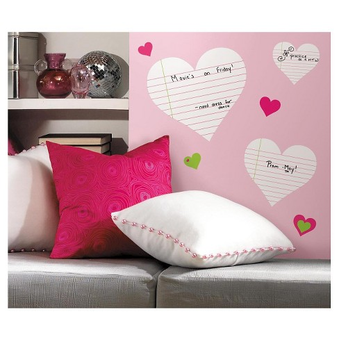 RoomMates Hearts Dry Erase Peel & Stick Wall Decals - image 1 of 2