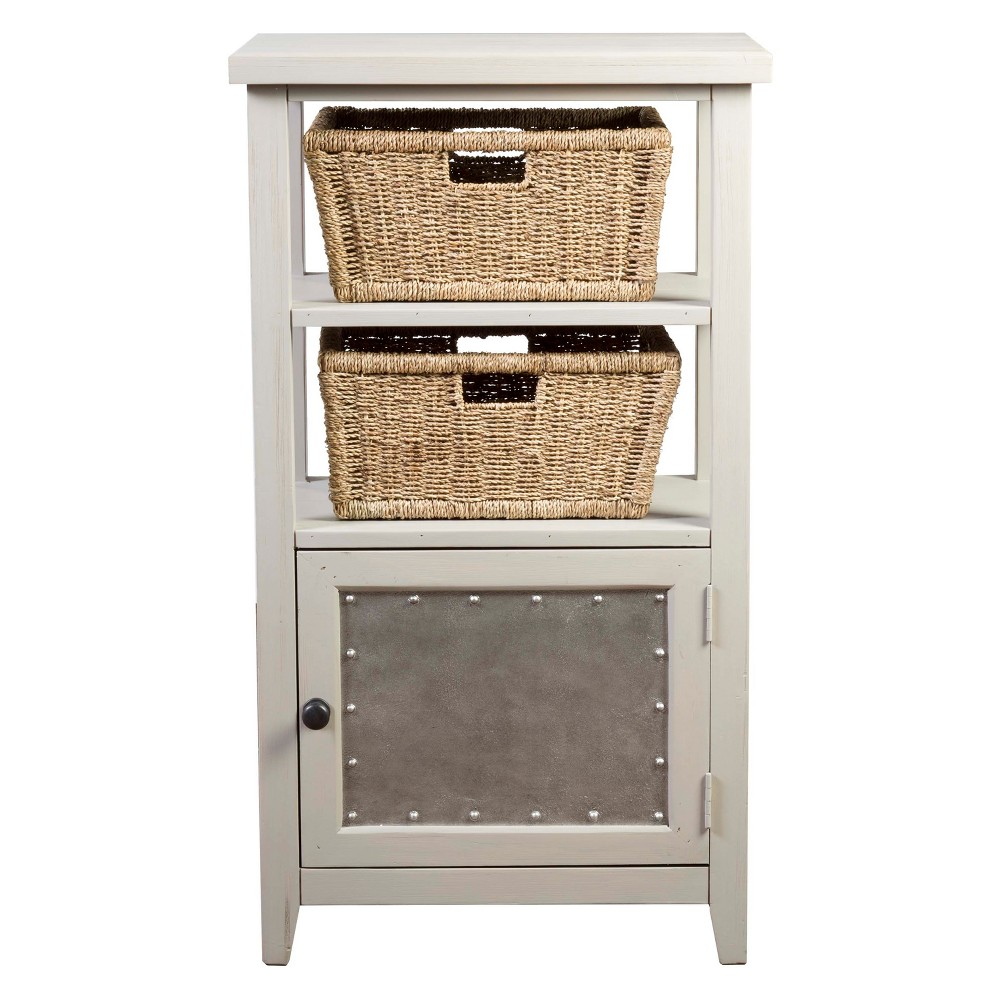 Image of Tuscan Retreat Basket Stand with Two (2) Baskets Taupe (Brown) - Hillsdale Furniture