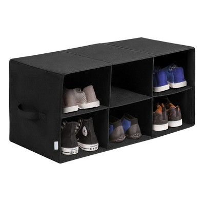 OSTO Freestanding Shoe Rack Organizer for 6 Pairs of Shoes; Great for Entryway, Closet, Foyer; Nonwoven Shoe Container No Tools Required