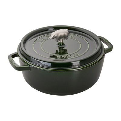 Staub Cast Iron 6-qt Cochon Shallow Wide Round Cocotte