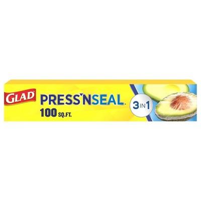Glad Press'N Seal + Plastic Food Wrap - 100 sq ft