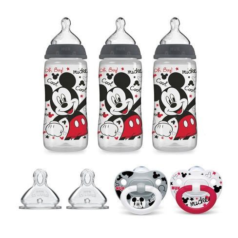 NUK Mickey Mouse Bottle & Pacifier Newborn Set - image 1 of 4