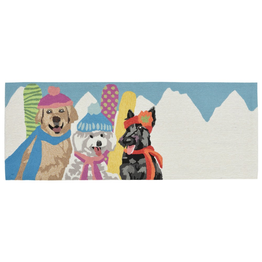 Rabbits Tufted and Hooked Runner 2'3x6 - Liora Manne, Multi-Colored