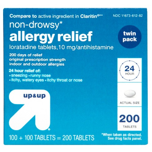 Loratadine Allergy Relief Tablets - 200ct - Up&Up™ (Compare to active ingredient in Claritin) - image 1 of 5