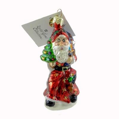 Christopher Radko A Splendid Arrival Gem Ornament Santa Christmas  -  Tree Ornaments