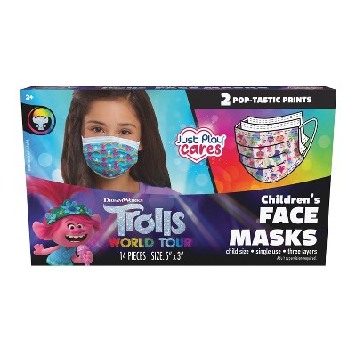 Just Play 3ply Trolls Kids Face Mask -14pc