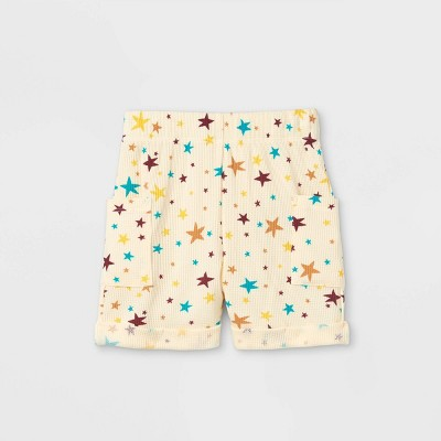 Toddler Boys' Thermal Star Pull-On Shorts - art class™ Cream