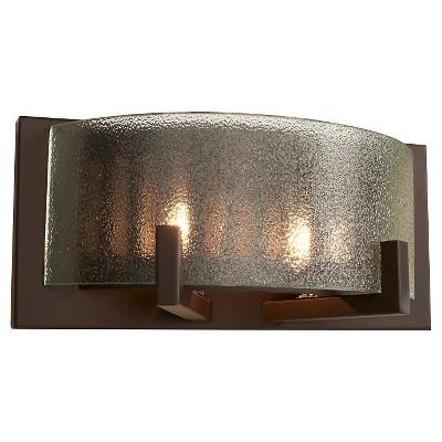 "5"" Firefly 2 Light Bath Vanity Warm Bronze Finish/Micro-Texture Glass - Varaluz"