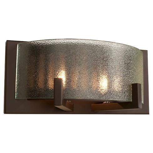 "5"" Firefly 2 Light Bath Vanity Warm Bronze Finish/Micro-Texture Glass - Varaluz - image 1 of 2"