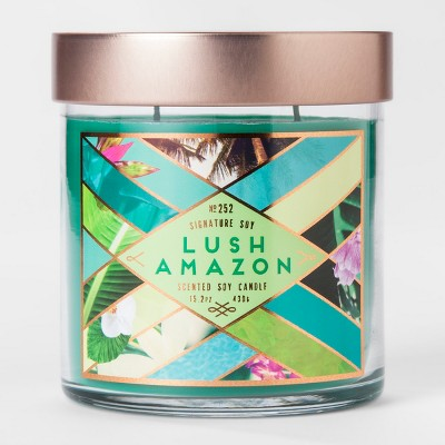 Large Jar Candle Lush Amazon 15.2oz