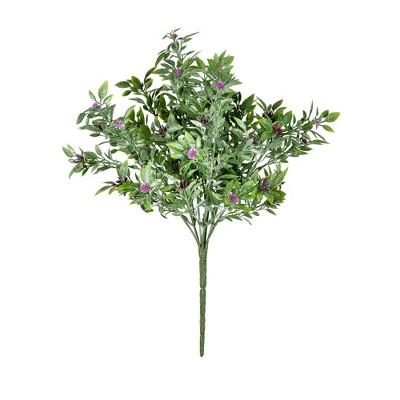 "Vickerman 13.5"" Artificial Purple UV Coated Wildflower Bush, Pack of 2"