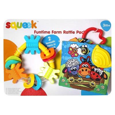 Playgro Squeek Fun Time Farm Rattle Pack