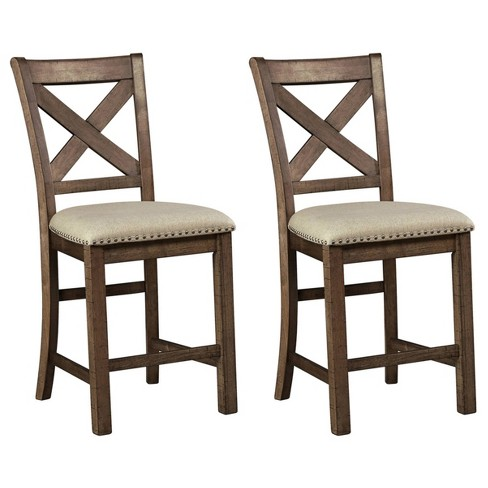 Moriville Upholstered Counter Height Barstool Beige - Signature Design by Ashley - image 1 of 4