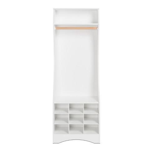 Narrow Wardrobe with Shoe Storage White - Prepac - image 1 of 6