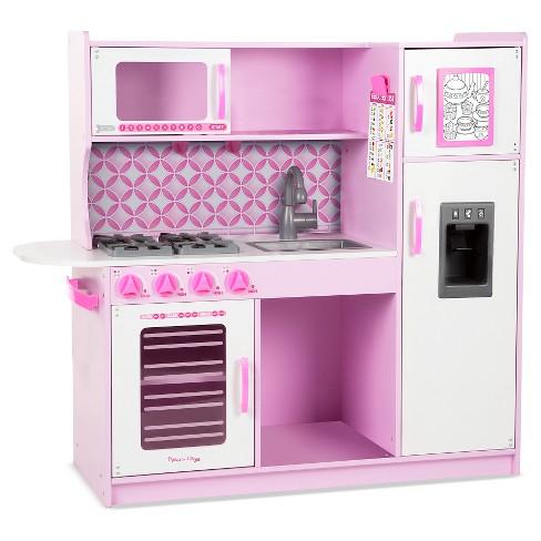 Melissa Doug Chef S Kitchen Pretend Play Set Cupcake Pink White