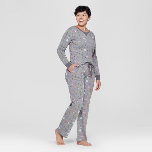 46ea92ffb04b Women s Camper Van Pajama Set - Gray   Target