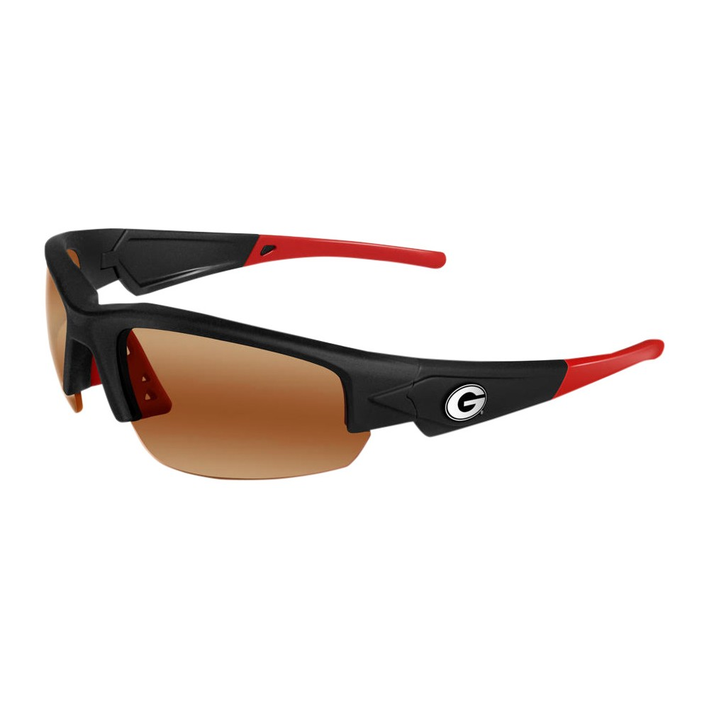 Georgia Bulldogs Dynasty 2.0 Sunglasses, Adult Unisex The Georgia Bulldogs Dynasty 2.0 is a sports frame sunglass for men and women of all ages. This sleek sunglass features Black Frame with Team Colored Red Tips and a HD Polarized lens. Raised metal Georgia Bulldogs logos on each temple round out this Team first sunglass while allowing no peripheral distortion for all outdoor activities. Gender: Unisex. Age Group: Adult. Pattern: Solid.