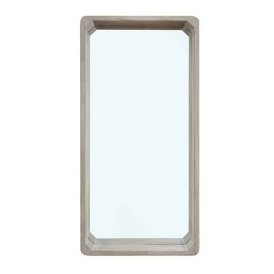 "32"" x 15.75"" Shadow Box Wall Mirror White Wash Wood - Danya B."