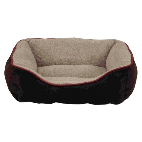 Dallas Manufacturing Co. Faux Suede Box Pet Bed - Brown - image 1 of 1