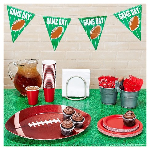 Football Tailgate Red & White Party Pack - image 1 of 1
