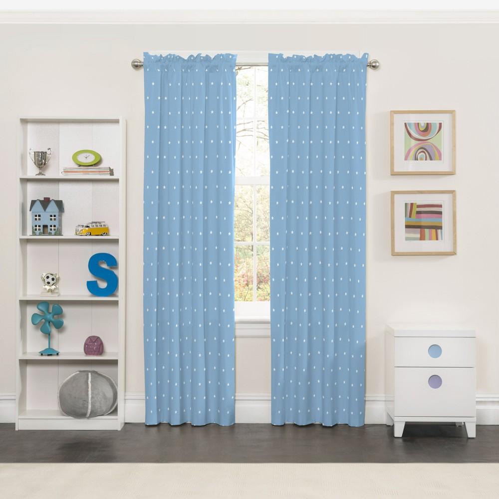 Super Star Blackout Curtain Blue (42