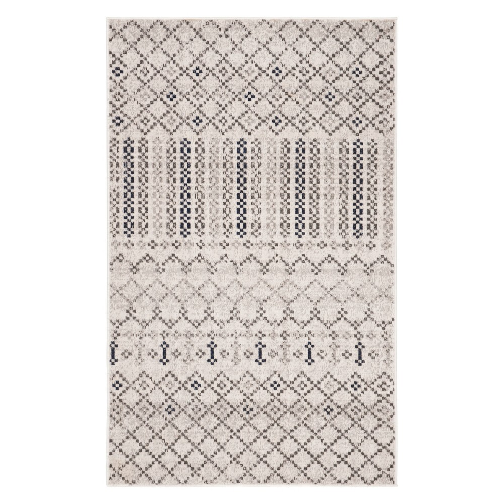 3X5 Geometric Design Loomed Accent Rug Gray/Charcoal - Safavieh Reviews