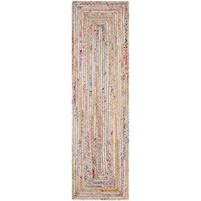 """2'3""""x12' Woven Stripe Runner Rug Beige - Safavieh"""