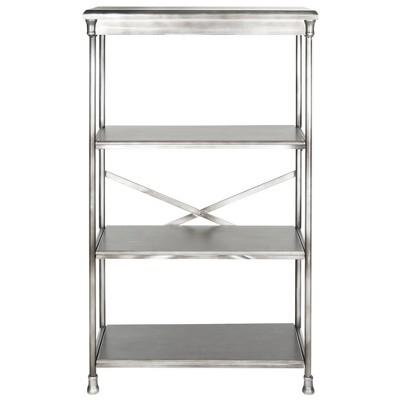 """Aurora 50.25"""" Storage Cabinet Etegere - Silver - Safavieh"""
