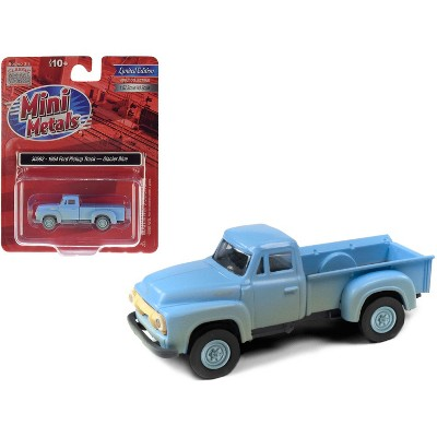 1954 Ford Pickup Truck Glacier Blue (Dirty/Weathered) 1/87 (HO) Scale Model Car by Classic Metal Works