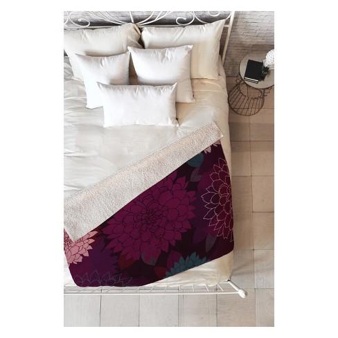 50''x60'' Iveta Abolina Burgundy Rose Throw Blanket Red - Deny Designs - image 1 of 2