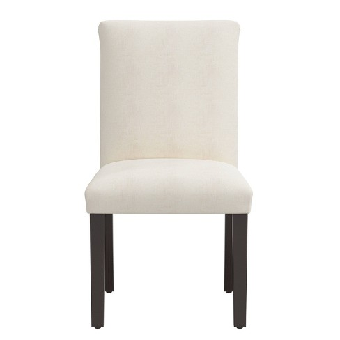 Parsons Dining Chair Off White Linen, White Parsons Chairs Dining Room
