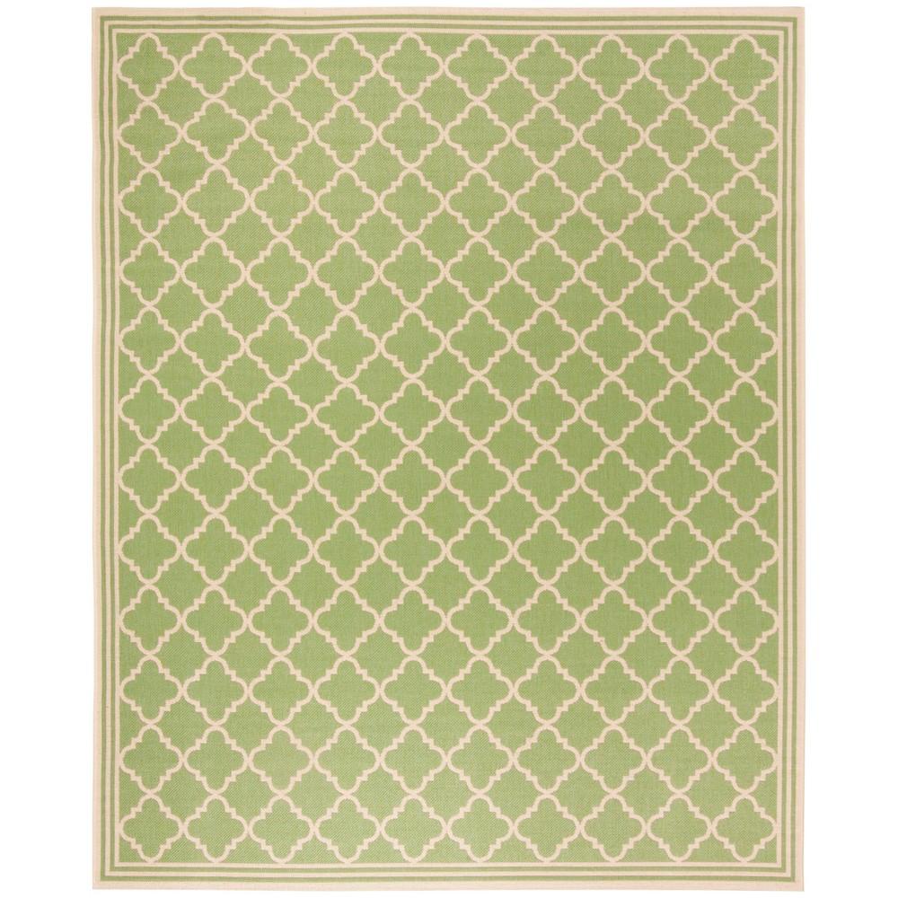8'X10' Quatrefoil Design Loomed Area Rug Olive/Cream (Green/Ivory) - Safavieh