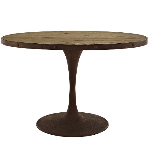 Drive Oval Wood Top Dining Table - Modway - image 1 of 4