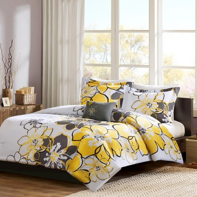 Yellow Kelly Comforter Set Full/Queen 4pc-