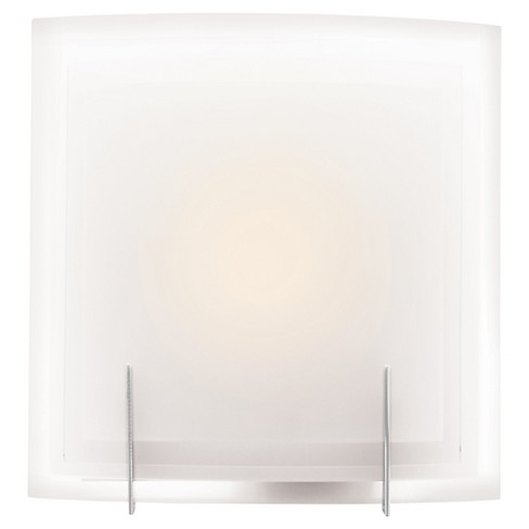 Nitrous Fluorescent Wall Light with Frosted Glass Shade - Brushed Steel - image 1 of 1