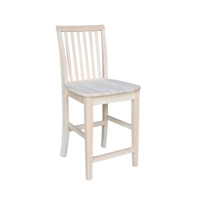 Mission Counter Height Barstool Unfinished - International Concepts